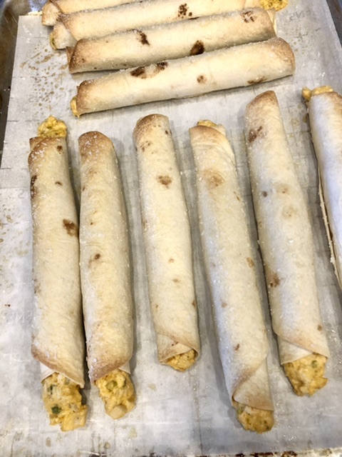 buffalo chicken taquitos baked to a golden brown