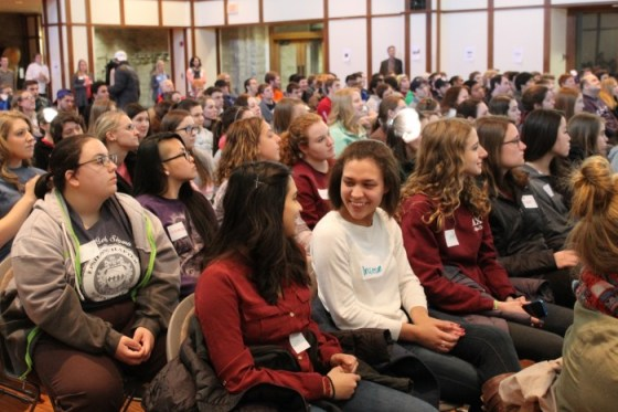 Students filled the Reilly Room in Atherton Union to hear different perspectives from people with disabilities.