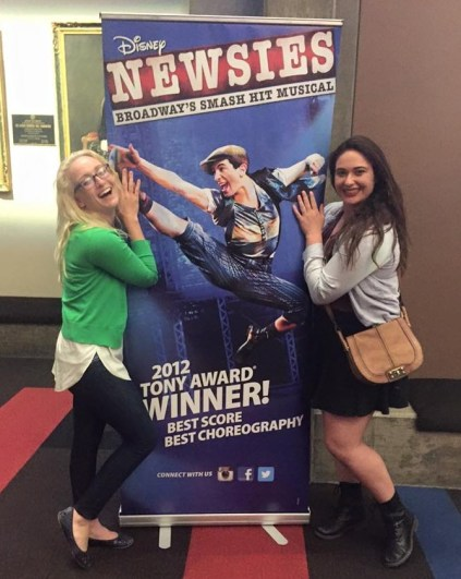 Catie Liggett left and Jenna Voris at Clowes Memorial Hall March 17.