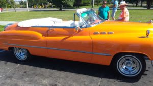 This is the car that we took our tour in. The man on the left was the tour guide. The man on the right was the driver.