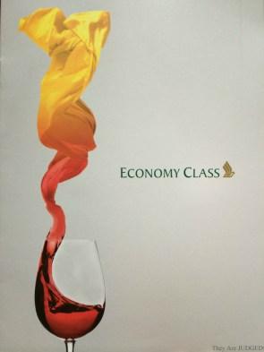 Singapore Menu economy class