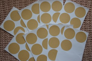 """Simple circle stickers. From """"Tiger""""."""