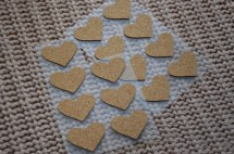 "Cork hearts. Very cute. From ""Tiger""."
