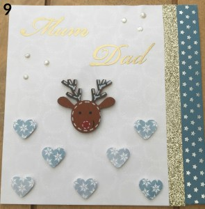 cardmaking embellishment numbered