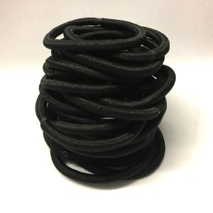 25 black nylon elastic hair bobbles