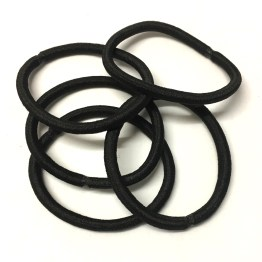 25 black nylon elastic hair bobbles for making hair accessories ... 07e853bbf1b