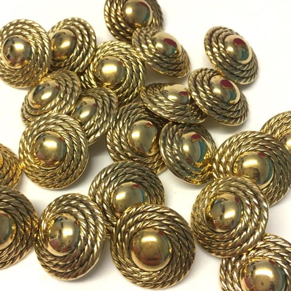 18mm gold metallic buttons