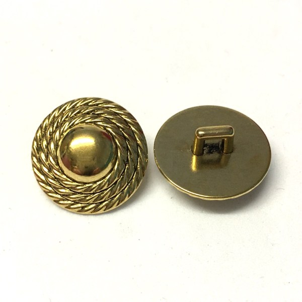 18mm gold metallic buttons