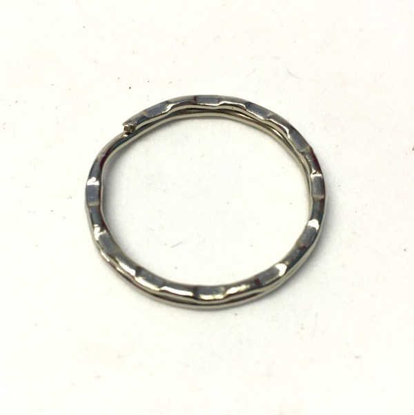 silver metal split ring keyrings