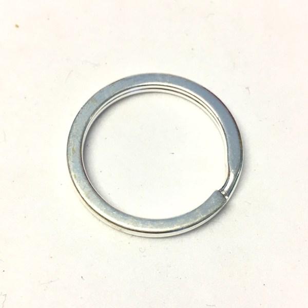 Silver plated metal split ring keyrings
