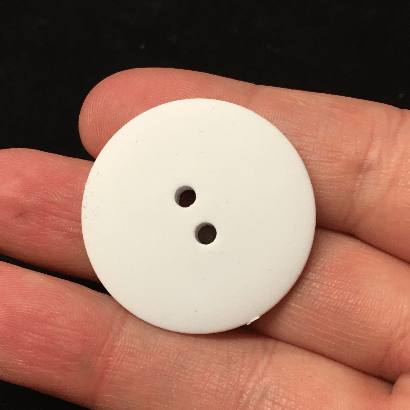 10 x 32mm large white resin coat buttons with two holes