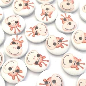 white giraffe buttons