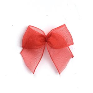 red organza bows
