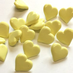 yellow heart buttons