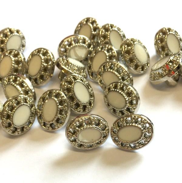 oval italian buttons