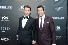 Drew and Jonathan Scott arrive at the Artists for Peace and Justice Festival Gala co-presented by Audi Canada at Casa Loma during the Toronto International Film Festival.