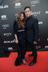 Natasha Koifman and George Stroumboulopoulos arrive at the Artists for Peace and Justice Festival Gala co-presented by Audi Canada at Casa Loma during the Toronto International Film Festival.