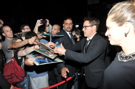 Robert Downey Jr. and wife arrive at Montecito Restaurant for the film party presented by Audi after the special presentation screening of The Judge during the Toronto International Film Festival.