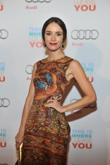Abigail Spencer arrives at Cluny Bistro for the film party presented by Audi after the special presentation screening of This Is Where I Leave You during the Toronto International Film Festival.