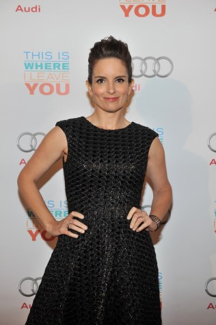Tina Fey arrives at Cluny Bistro for the film party presented by Audi after the special presentation screening of This Is Where I Leave You during the Toronto International Film Festival.