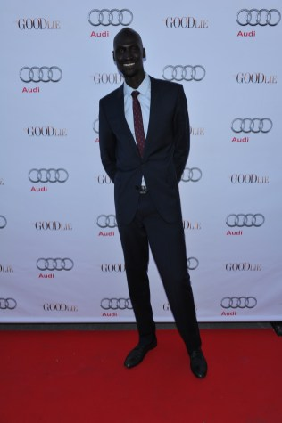 Ger Duany arrives at Nota Bene for the film party presented by Audi after the special presentation screening of The Good Lie during the Toronto International Film Festival.