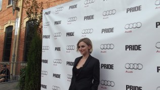 Faye Marsay arrives at The Citizen for the film party presented by Audi after the special presentation screening of PRIDE during the Toronto International Film Festival.