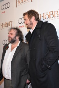 Lee Pace and Peter Jackson arrive at the Windsor Arms Hotel for the film party presented by Audi Canada after the Canadian premiere screening of The Hobbit: The Battle of the Five Armies.