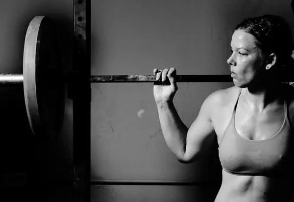 Woman barbell