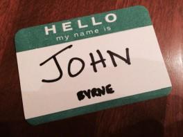 Hello my name is John Byrne