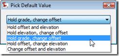 Choosing Civil 3D Corridor Transition Type