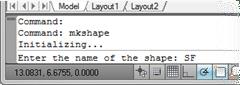 Naming the AutoCAD Shape