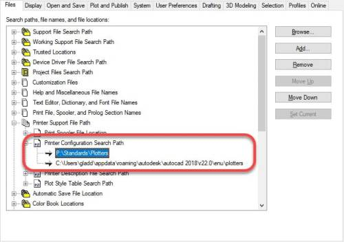 AutoCAD Search Path Order