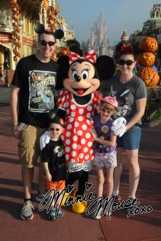 The Cain Family with Minnie Mouse