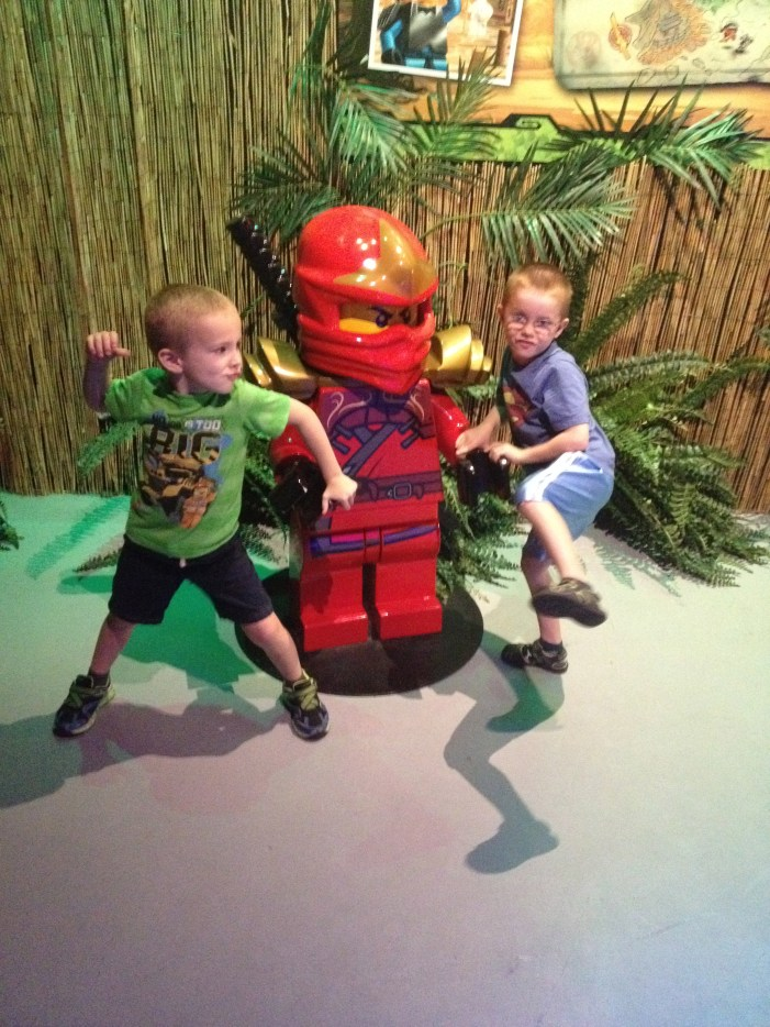 William and Aiden showing off their Ninja Skills!!!
