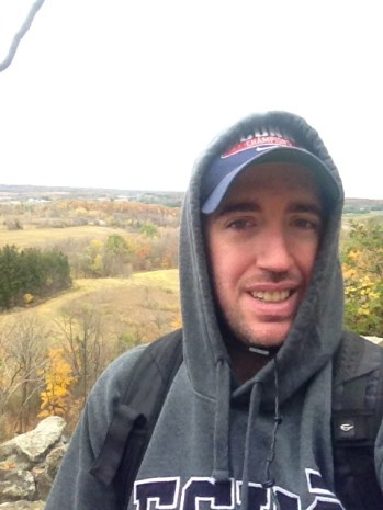 A selfie of me at one of the lookouts