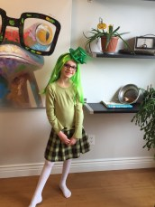 Abby celebrating St. Patrick's Day 2015