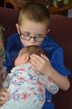Aiden kissing Eva