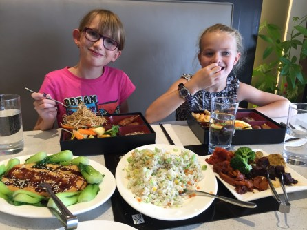 Abby & Ava having dinner out