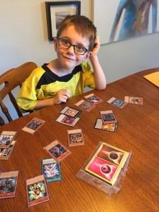 Aiden's new Yu-Gi-Oh & Pokemon Cards