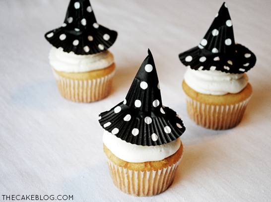 Cupcake Liners Witch Hats. Source: The Cake Blog