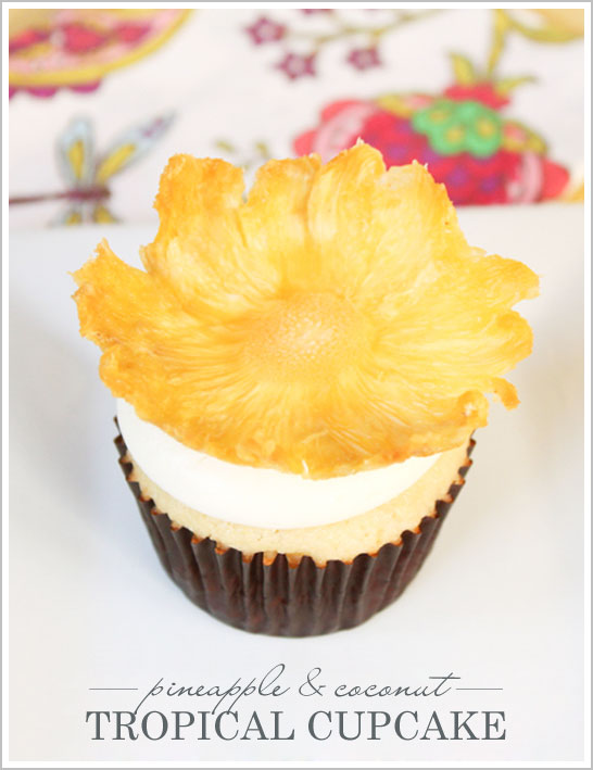 Tropical Pineapple Cupcake Recipe by Lauren Kapeluck  |  TheCakeBlog.com
