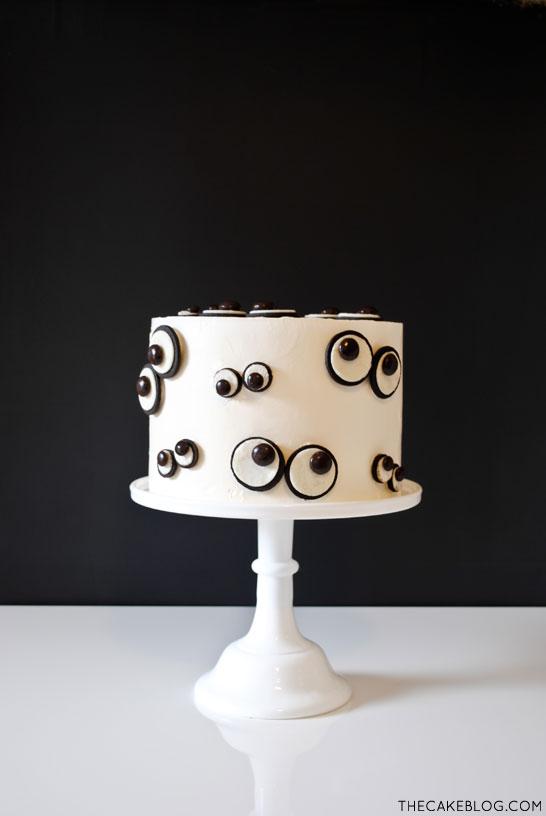 Super easy Monster Eye Cake for Halloween   by Carrie Sellman for TheCakeBlog.com