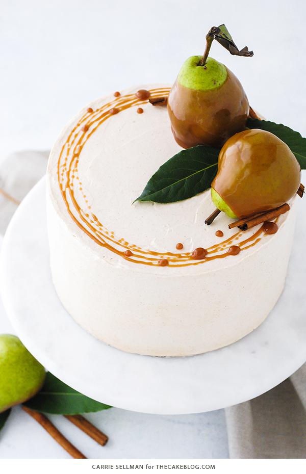 Salted Caramel Pear Cake