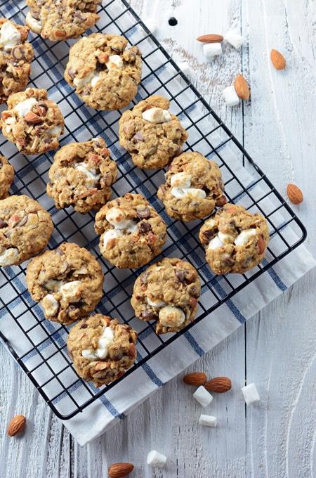 Espresso Rocky Road Oatmeal Cookies