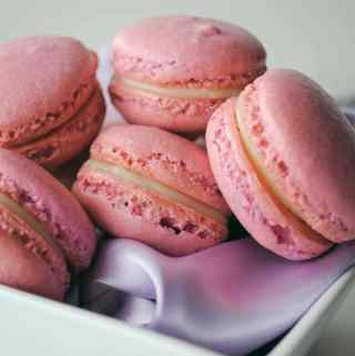 French Macarons with White Chocolate Lavender Ganache