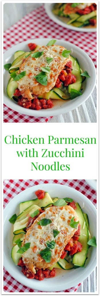 Chicken Parmesan with Zucchini Noodles