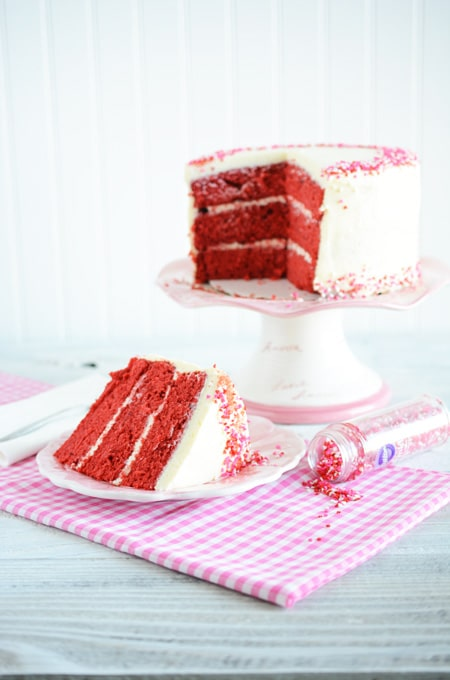 Valentines Day Red Velvet Cake