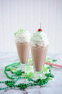Mint Chocolate Chip Milkshakes