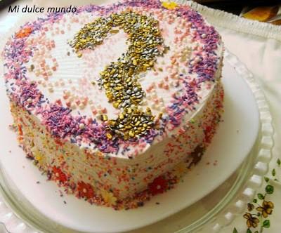 Reto Sprinkle, tarta de Mi dulce mundo