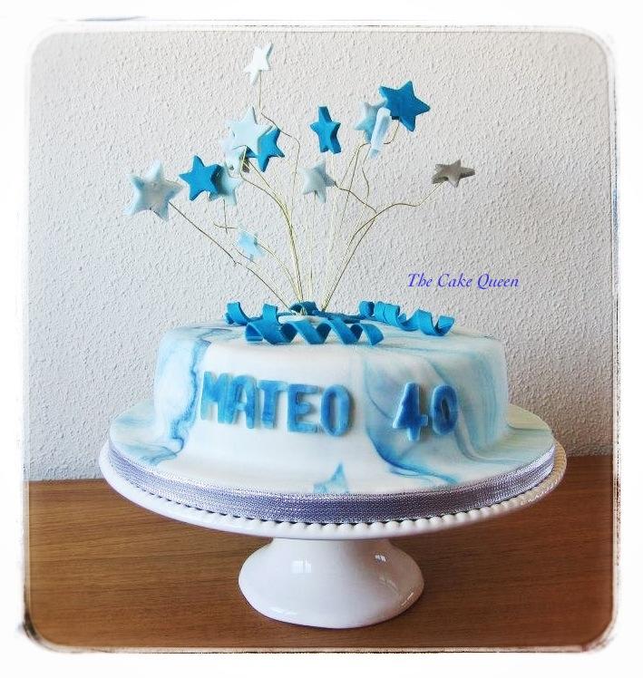 Decoraciones explosivas, tarta de cumple de Mateo